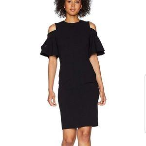 NWT Calvin Klein Cold Shoulder Sheath Dress 10